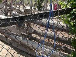 Dây điện dính vào hàng rào B40
