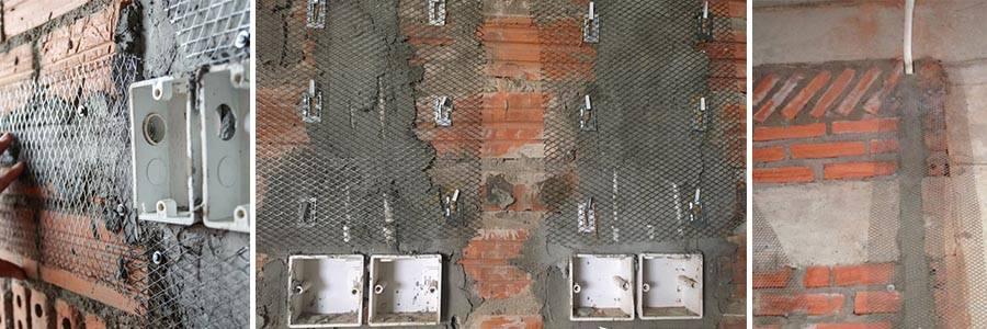 Ứng dụng lưới thép trát tường