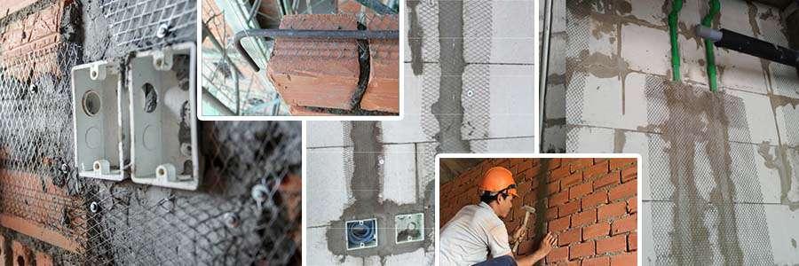 Ứng dụng lưới mắt cáo tô trát tường