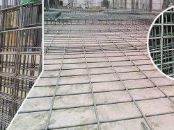 Đổ sàn bằng lưới thép hàn