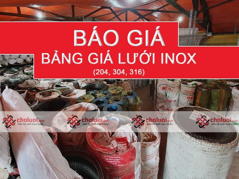Bảng báo giá lưới inox